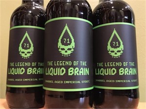 Bull & Bush The Legend of the Liquid Brain 16.9oz