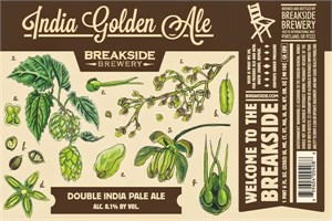 Breakside Brewery - India Golden Ale - Imperial IPA 22oz