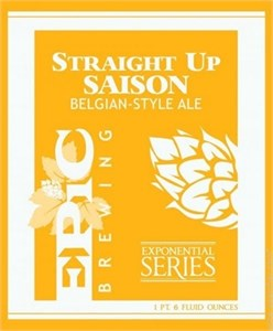 Epic Brewing Straight Up Saison