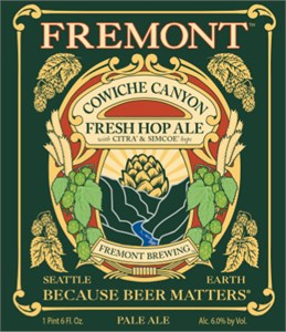 Fremont Brewing - Cowiche Canyon Fresh Hop – Citra & Simcoe 22oz